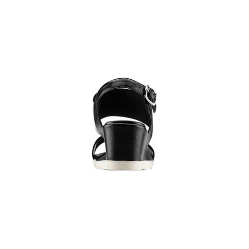 Sandali con strass bata, nero, 761-6321 - 15
