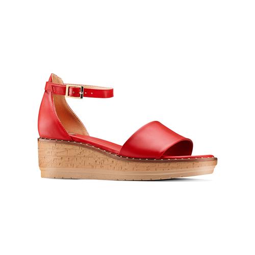 Sandali con zeppa bata, rosso, 661-5354 - 13