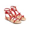 Sandali con doppio cinturino bata, rosso, 561-5542 - 16