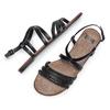 Sandali Flat bata, nero, 561-6539 - 26