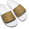 Ciabatte flat con strass bata, oro, 571-8191 - 26