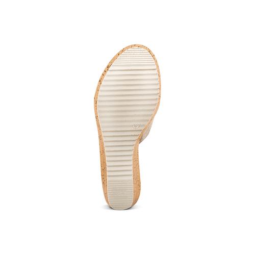 Ciabatte con zeppa bata, beige, 763-8104 - 19
