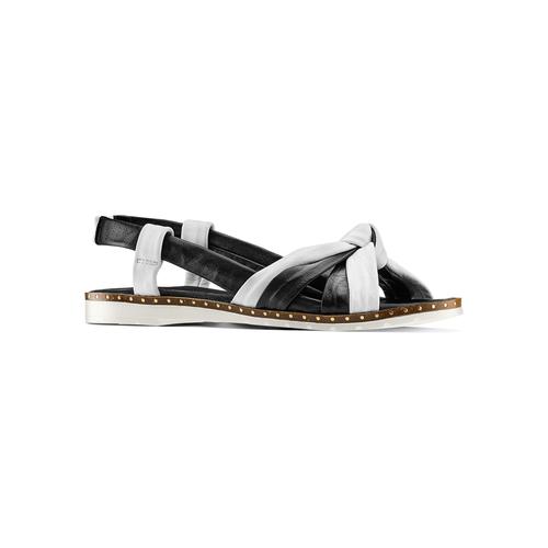 Sandali in vera pelle bata, nero, 564-6525 - 13