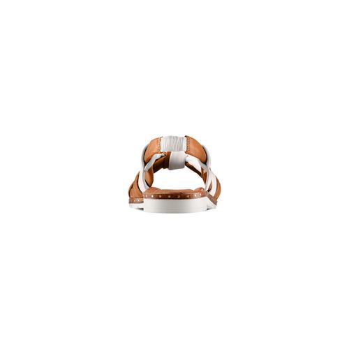 Sandali in vera pelle bata, marrone, 564-4525 - 15