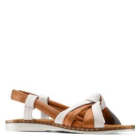 Sandali in vera pelle bata, marrone, 564-4525 - 13