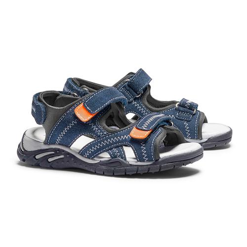 Sandali in pelle da bambino mini-b, blu, 363-9244 - 26