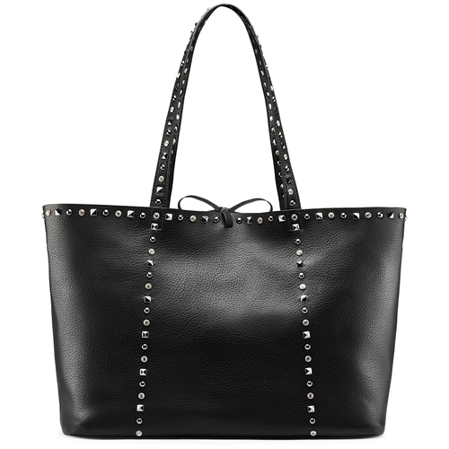 Shopper con borchie bata, nero, 961-6280 - 26