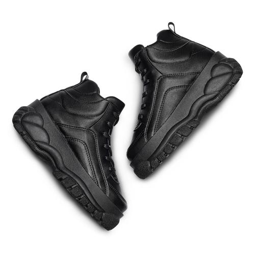 Sneakers alte con platform bata, nero, 541-6231 - 26