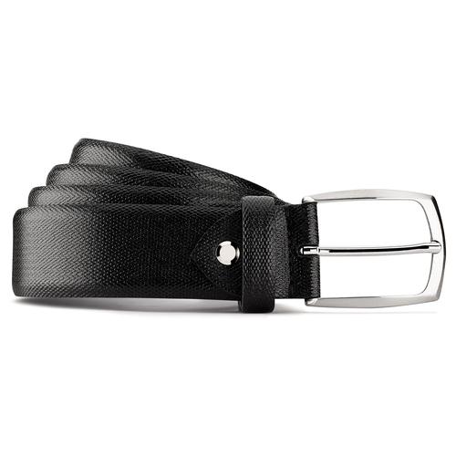 Cintura in vera pelle da uomo bata, nero, 954-6168 - 13