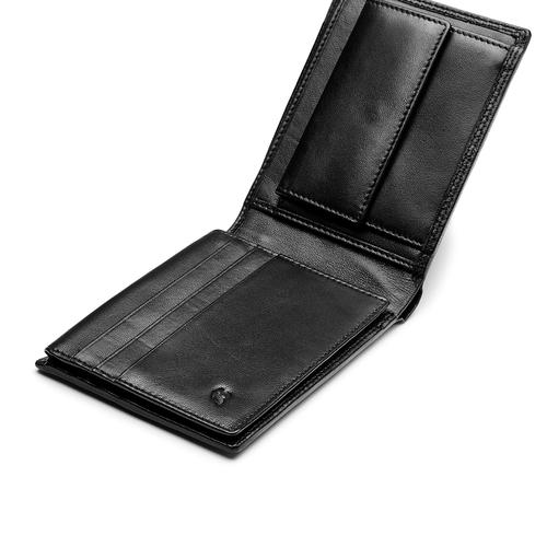 Portafoglio da uomo in pelle bata, nero, 944-6127 - 15
