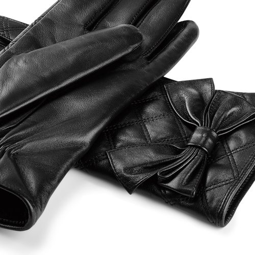 Guanti Bata da donna in vera pelle bata, nero, 904-6139 - 15