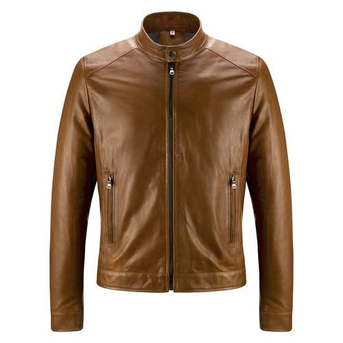 Giacca da uomo in vera pelle bata, marrone, 974-0154 - 13